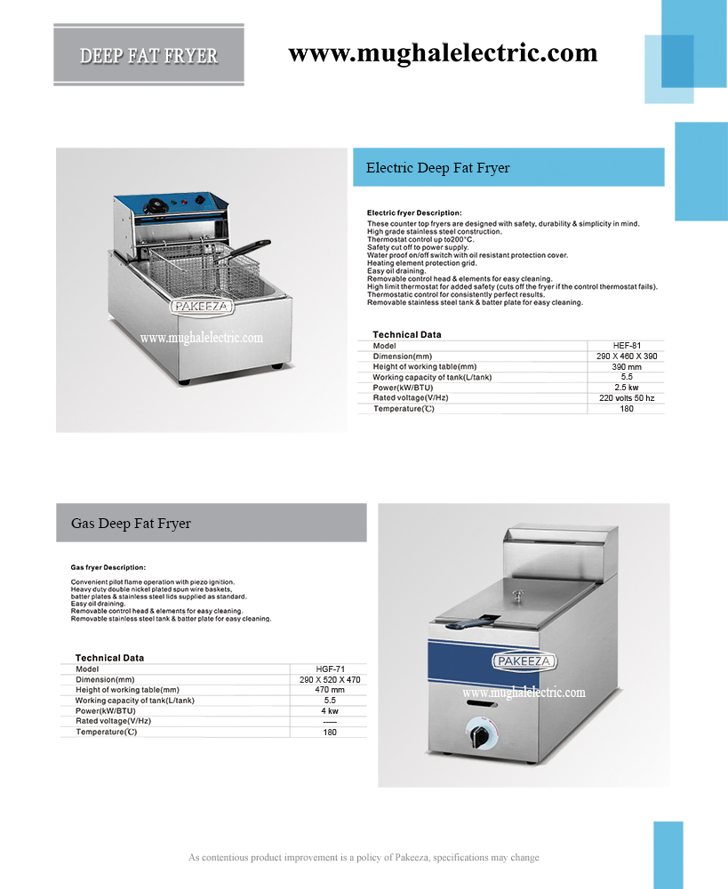 Electric Deep Fat Fryer Hef 81 Commercial And Domestic
